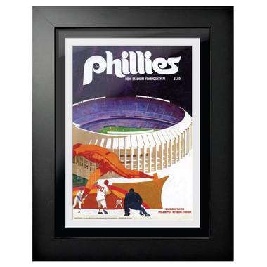 Philadelphia Phillies 1971 Yearbook Cover 18 x 14 Framed Print