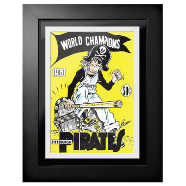Pittsburgh Pirates 1961 Yearbook Cover 18 x 14 Framed Print