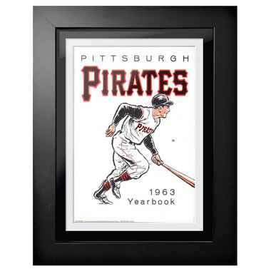 Pittsburgh Pirates 1963 Yearbook Cover 18 x 14 Framed Print