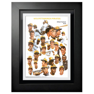 Pittsburgh Pirates 1973 Yearbook Cover 18 x 14 Framed Print
