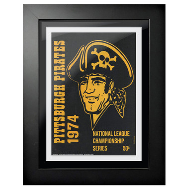 Pittsburgh Pirates 1974 Yearbook Cover 18 x 14 Framed Print