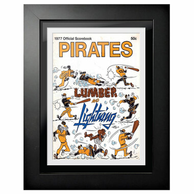 Pittsburgh Pirates 1977 Yearbook Cover 18 x 14 Framed Print