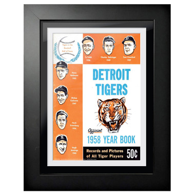 Detroit Tigers 1958 Yearbook Cover 18 x 14 Framed Print