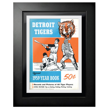 Detroit Tigers 1959 Yearbook Cover 18 x 14 Framed Print