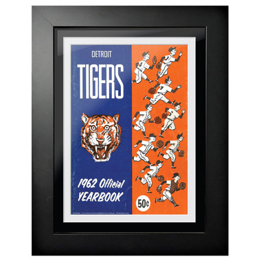 Detroit Tigers 1962 Yearbook Cover 18 x 14 Framed Print