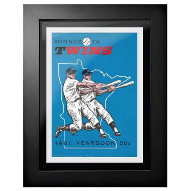 Minnesota Twins 1961 Yearbook Cover 18 x 14 Framed Print