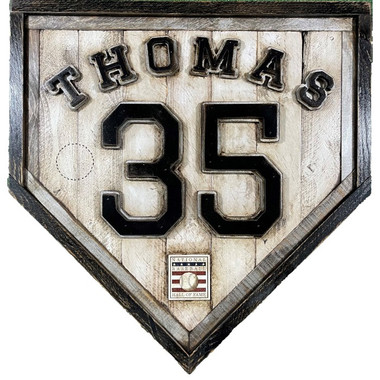Frank Thomas Hall of Fame Vintage Distressed Wood 20 Inch Heritage Natural Home Plate
