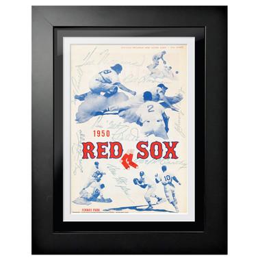 Boston Red Sox 1950 Scorecard Cover 18 x 14 Framed Print