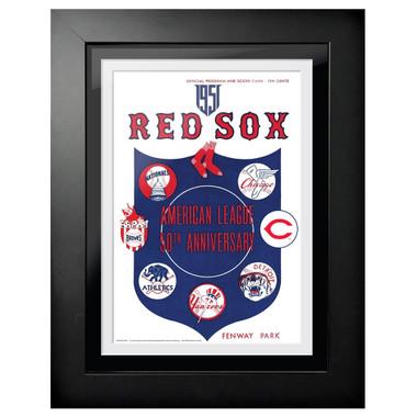 Boston Red Sox 1951 Scorecard Cover 18 x 14 Framed Print