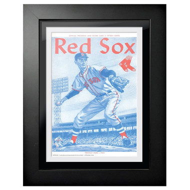 Boston Red Sox 1960 Scorecard Cover 18 x 14 Framed Print
