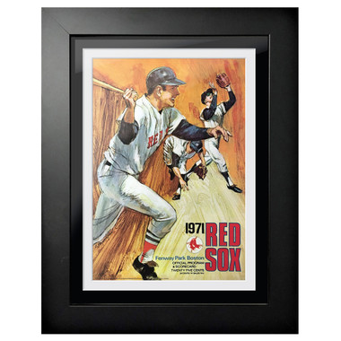 Boston Red Sox 1971 Scorecard Cover 18 x 14 Framed Print
