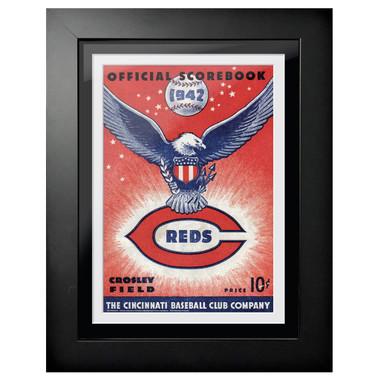 Cincinnati Reds 1942 Scorecard Cover 18 x 14 Framed Print