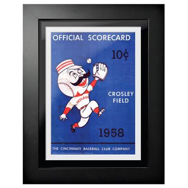 Cincinnati Reds 1958 Scorecard Cover 18 x 14 Framed Print
