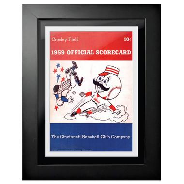 Cincinnati Reds 1959 Scorecard Cover 18 x 14 Framed Print