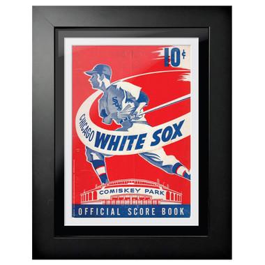 Chicago White Sox 1950 Scorecard Cover 18 x 14 Framed Print