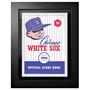 Chicago White Sox 1955 Scorecard Cover 18 x 14 Framed Print