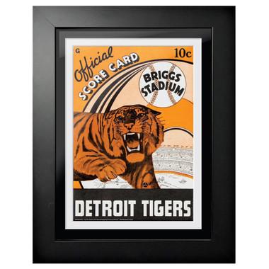 Detroit Tigers 1940 Scorecard Cover 18 x 14 Framed Print