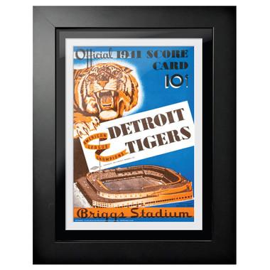 Detroit Tigers 1941 Scorecard Cover 18 x 14 Framed Print
