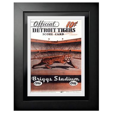 Detroit Tigers 1946 Scorecard Cover 18 x 14 Framed Print