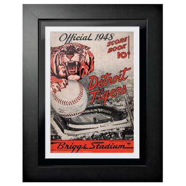 Detroit Tigers 1948 Scorecard Cover 18 x 14 Framed Print