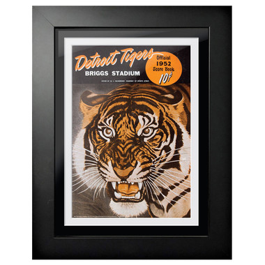 Detroit Tigers 1952 Scorecard Cover 18 x 14 Framed Print