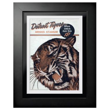 Detroit Tigers 1955 Scorecard Cover 18 x 14 Framed Print