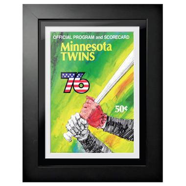 Minnesota Twins 1976 Scorecard Cover 18 x 14 Framed Print