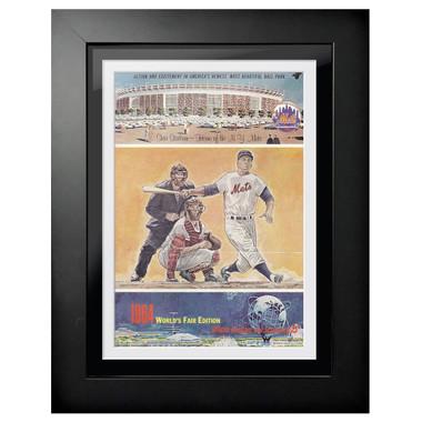 New York Mets 1964 Scorecard Cover 18 x 14 Framed Print