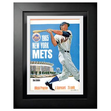 New York Mets 1965 Scorecard Cover 18 x 14 Framed Print