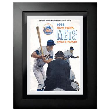 New York Mets 1966 Scorecard Cover 18 x 14 Framed Print