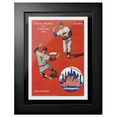 New York Mets 1968 Scorecard Cover 18 x 14 Framed Print