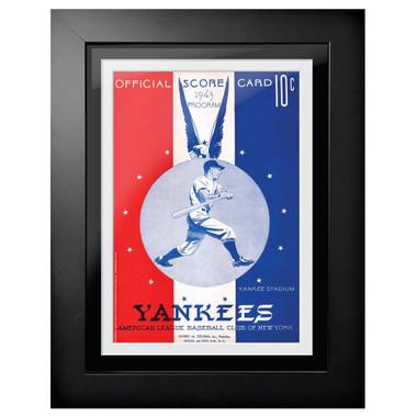 New York Yankees 1943 Scorecard Cover 18 x 14 Framed Print