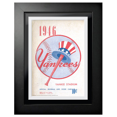 New York Yankees 1946 Scorecard Cover 18 x 14 Framed Print