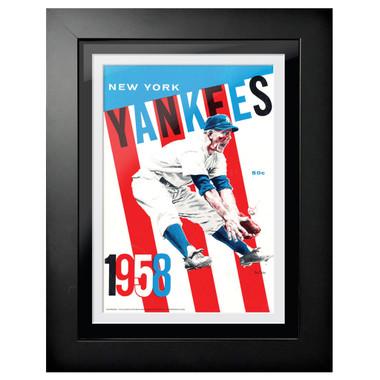New York Yankees 1958 Scorecard Cover 18 x 14 Framed Print