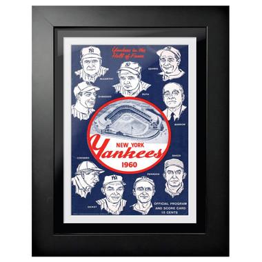 New York Yankees 1960 Scorecard Cover 18 x 14 Framed Print