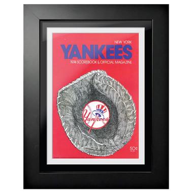 New York Yankees 1974 Scorecard Cover 18 x 14 Framed Print