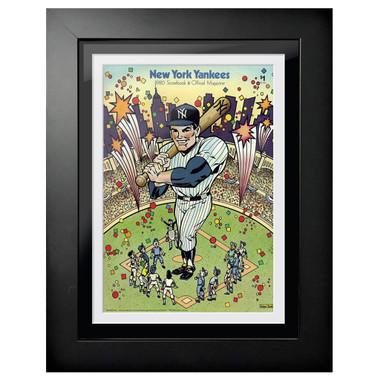 New York Yankees 1980 Scorecard Cover 18 x 14 Framed Print