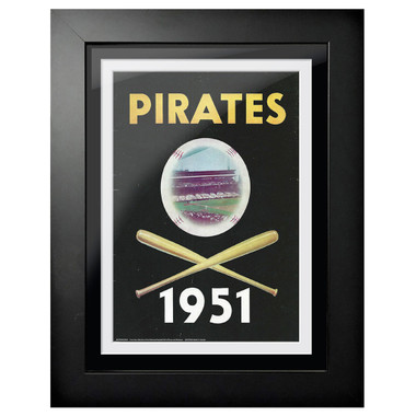 Pittsburgh Pirates 1951 Scorecard Cover 18 x 14 Framed Print