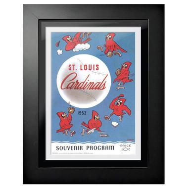 St. Louis Cardinals 1952 Scorecard Cover 18 x 14 Framed Print
