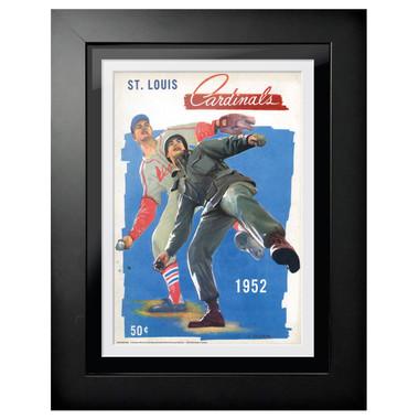 St. Louis Cardinals 1952 Army Scorecard Cover 18 x 14 Framed Print