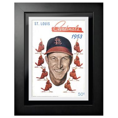 St. Louis Cardinals 1953 Scorecard Cover 18 x 14 Framed Print