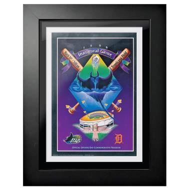 Tampa Bay Rays 1998 Scorecard Cover 18 x 14 Framed Print