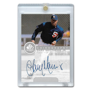 Gary Matthews Jr. Autographed Card 1999 SP Authentic Chirography