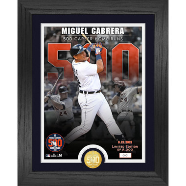Highland Mint Miguel Cabrera 500th Career Commemorative Bronze Coin Photo Mint