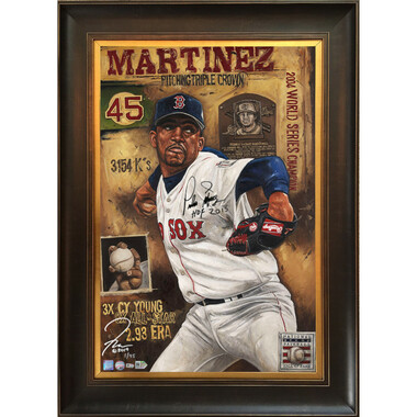 Pedro Martinez 'Who's Your Daddy' Autographed Limited Edition of 45 Framed 24 x 36 Canvas Giclee (Justyn Farano)