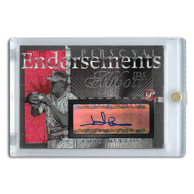 Jim Abbott Autographed Card 2005 Topps Pristine Personal Endorsements # JA