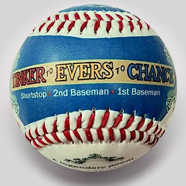 Tinker to Evers to Chance Unforgettaballs Limited Commemorative Baseball with Lucite Gift Box