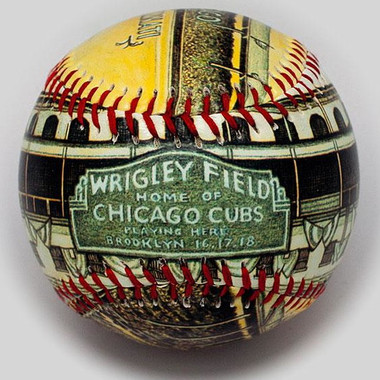 Wrigley Field Opening Day 1926 Unforgettaballs Limited Commemorative Baseball with Lucite Gift Box