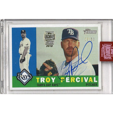 Troy Perciaval Autographed Card 2019 Topps Archives Signature Series Ltd Ed of 53