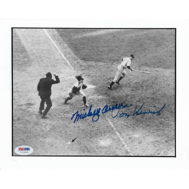 Mickey Owen and Tommy Henrich Dual Autographed 8x10 Photograph (PSA-99)